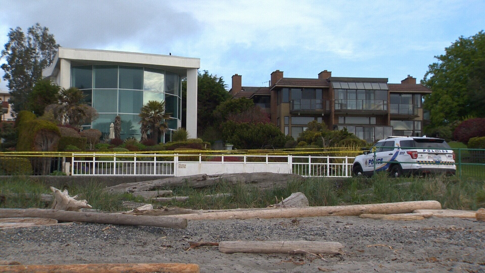 The attack happened at this home in the 2500-block of Esplanade near Willows Beach. (CTV Vancouver Island)