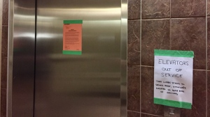 Some residents living in the condo on Edmonton Street feel trapped in their homes after the elevators broke down on April 18. (Jon Hendricks/CTV Winnipeg)