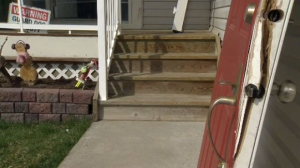 Men who may have been posing as door-to-door salesmen broke into the home while children were inside.