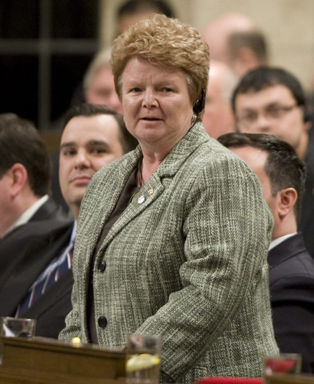 Minister of Fisheries and Oceans Gail Shea responds to a question during Question Period in the House of Commons on Parliament Hill in Ottawa on Wednesday, Feb. 11, 2009. (Adrian Wyld / THE CANADIAN PRESS)