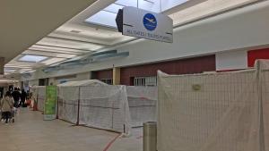 Construction is underway at the Saskatoon airport on April 26, 2017. (Matt Young/CTV Saskatoon)