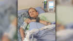 Brian Alexander's 12-year-old son was struck by a car in a marked crosswalk in Maple Ridge last week. (CTV)