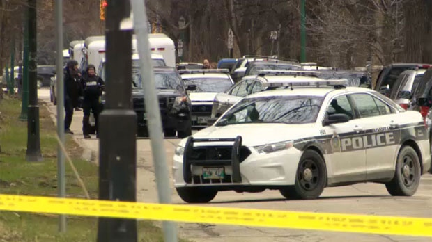 A heavy police presence, including the tactical unit and an ambulance, were seen on Sherburn Street Wednesday evening.