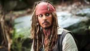 In this file film publicity image released by Disney, Johnny Depp portrays Captain Jack Sparrow in a scene from, 'Pirates of the Caribbean: On Stranger Tides.' (Disney, Peter Mountain)