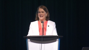 Jane Philpott delivers speech in Hamilton, Ont