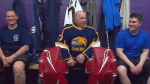 Firefighter goes from crane rescue to hockey game