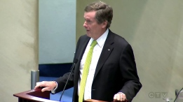 Mayor John Tory praised acting Toronto Fire Capt. Rob Wonfor and other emergency officials for their heroic actions on Thursday morning at City Hall one day after the rescue was completed.