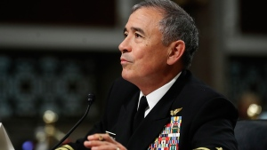 U.S. Pacific Command Commander Adm. Harry Harris Jr. testifies on Capitol Hill in Washington, Thursday, April 27, 2017, before the Senate Armed Services Committee hearing on North Korea. (AP / Manuel Balce Ceneta)