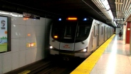 A TTC subway train is shown.