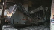 A late night fire caused thousands in damage to a Moncton RV dealership, right before their busy season