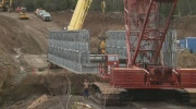 Temporary bridge takes shape on N.B. Route 114 after washout