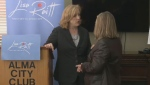 Federal Conservative leadership contender Lisa Raitt kicked off her Maritime tour in Moncton.