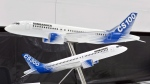 Models of Bombardier C-series airplanes are shown at a news conference in Montreal, Que., Tuesday, Feb. 7, 2017. The federal government says it will give Bombardier $372.5 million in repayable loans over four years to support the Global 7000 and CSeries aircraft projects. (THE CANADIAN PRESS / Paul Chiasson)