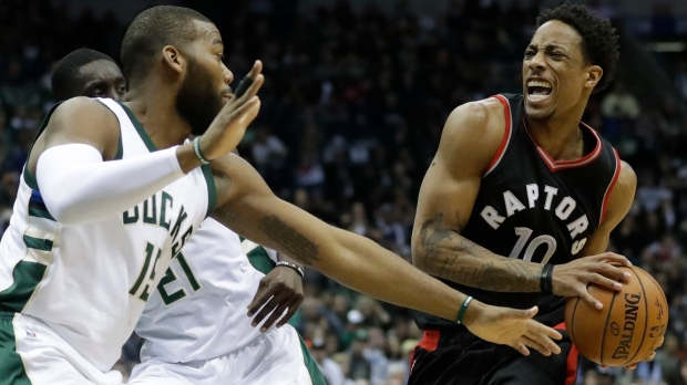 Powell's contributions help Raptors regain control against Bucks