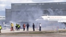 Mock plane crash at YVR part of crews' training