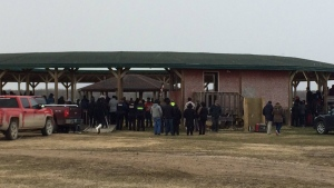 A vigil was held on Sagkeeng First Nation in northern Manitoba for Serena McKay, 19, on Thursday, April 27, 2017. (Jill Macyshon)