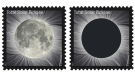 A Total Solar Eclipse Forever stamp is seen in this undated image. (U.S. Postal Service)
