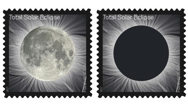 U.S. Postal Service launches solar eclipse stamp