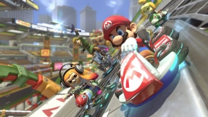 """Mario Kart 8 Deluxe"" is descended from ""Mario Kart Wii,"" the best-selling racing game of all time. (Nintendo)"