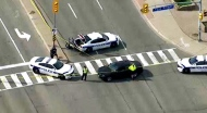 Police have closed Hurontario Street between King and Dundas streets for an investigation. (CP24)