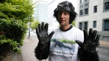 Tom 'Mr Gorilla' Harrison in London
