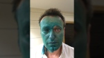 Russian opposition leader attacked with green dye