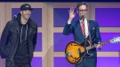 Classified, left, and David Myles perform at the 2017 East Coast Music Awards gala in Saint John, N.B. on Thursday, April 27, 2017. (THE CANADIAN PRESS/Andrew Vaughan)