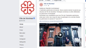 A video promoting Montreal's cultural heritage as part of the city's 375th birthday celebrations was pulled from the Internet after it was criticized for only featuring white people.