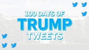 100 days of U.S. President Donald Trump's tweets, an analysis. (CTV News)