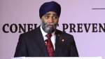 Minister of National Defence Harjit Sajjan speaks at the 'Conflict Prevention and Peacekeeping in a Changing World' in New Delhi, India on April 18, 2017.