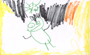 Weather art by Brenton, age 4.