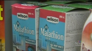 Warning about using malathion