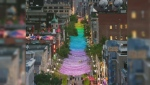 Montreal's 11th annual Gay Pride festival kicks off under the multicolored canopy as of August 11. (CTV Montreal)