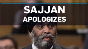 Sajjan apologizes