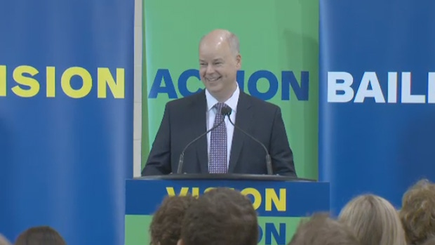 Progressive Conservative Leader Jamie Baillie speaks at his campaign launch on Saturday, April 29, 2017.