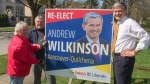Liberal MLA candidate Andrew Wilkinson (right) is seen in this social media image. (Twitter / 2Wilkinson4BC)