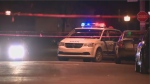 Police investigate a stabbing at a home in Riviere-des-Prairies on April 28th, 2017.
