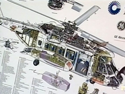 A diagram of a Sikorsky S-92A helicopter shows the main gearbox filter bowl assembly mounting studs which now must now be replaced with steel studs.