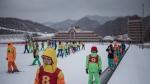 Members of a 'ski camp' at the Masikryong ski resort, near North Korea's east coast port city of Wonsan. (Ed JONES / AFP)