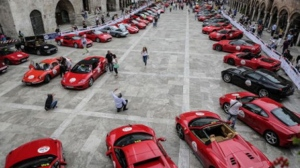 Ferraris at the 2016 Mille Miglia (Ferrari North Europe)
