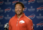 In this Monday, March 9, 2015, file photo, Buffalo Bills general manager Doug Whaley reacts to a question about the future of the team during a news conference at the Ralph Wilson Media Center in Orchard Park, N.Y. (AP / Gary Wiepert)