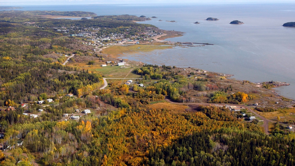 An aerial view of Fort Chipewyan, Alta., Monday, Sept. 19, 2011. (THE CANADIAN PRESS/Jeff McIntosh)