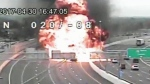 Extended: Car explodes on Ohio highway