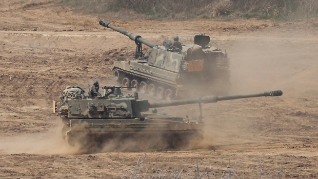 South Korean Army K-9 self-propelled howitzers
