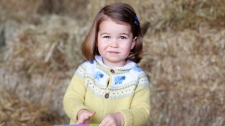 "In this photo released Monday May 1, 2017, by the Duke and Duchess of Cambridge, showing their daughter Princess Charlotte taken in April 2017 by her mother Kate the Duchess of Cambridge at Anmer Hall in Norfolk, England. The Duke and Duchess of Cambridge have said they are ""delighted"" to share this new photograph of Princess Charlotte enjoying the outdoors to mark their only daughter's second birthday on Tuesday May 2. (The Duchess of Cambridge via AP)"
