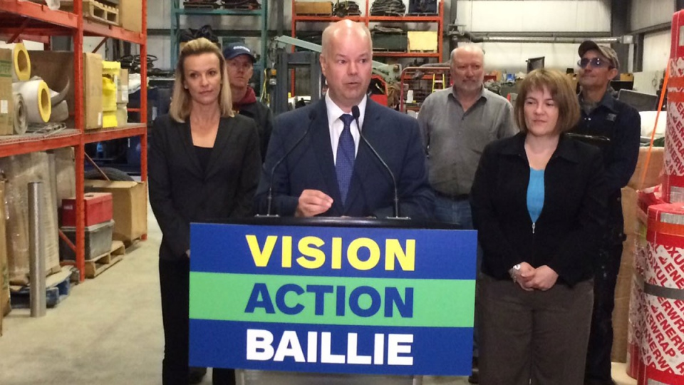 Tory leader Jamie Baillie has promised a $2-billion Rebuild Nova Scotia Fund -- with half the money coming from Ottawa -- that would build roads and other infrastructure.