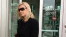 Former Catholic teacher Christina Albini leaves court on Monday, May 1, 2017. (Courtesy Teresinha Medeiros / AM800)