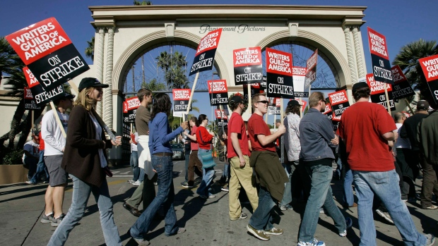 Hollywood writers' guild strikes deal