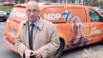 Nova Scotia NDP Leader Gary Burrill makes a campaign stop in Halifax on Monday, May 1, 2017. The provincial election will be held Tuesday, May 30. (THE CANADIAN PRESS/Andrew Vaughan)