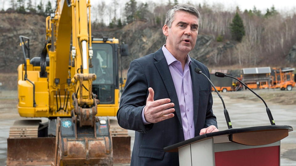 Nova Scotia Premier Stephen McNeil makes an infrastructure announcement as he campaigns in Halifax on Monday, May 1, 2017. The provincial election will be held Tuesday, May 30. (THE CANADIAN PRESS/Andrew Vaughan)